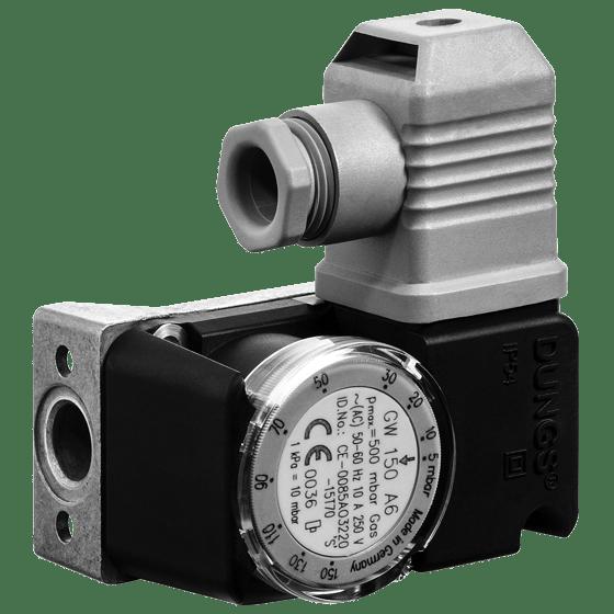 GW, A6: Компактний датчик-реле тиску газу і повітря - Фото №1