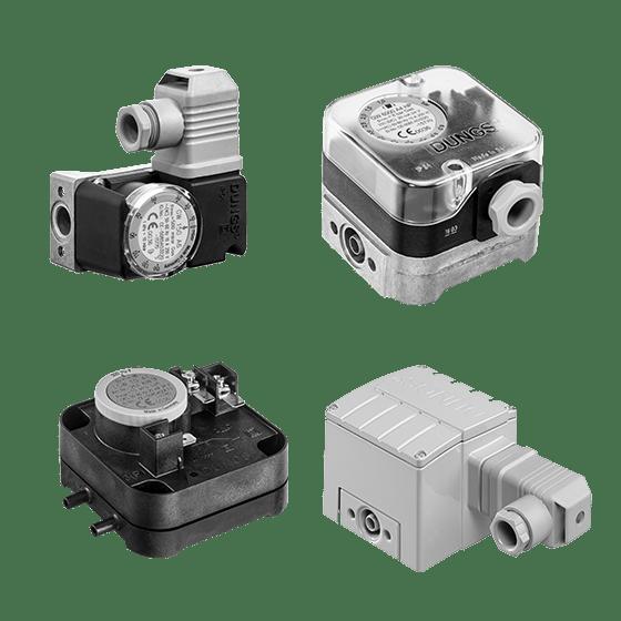 GW / LGW: Огляд асортименту продукції. Датчик-реле тиску газу і повітря