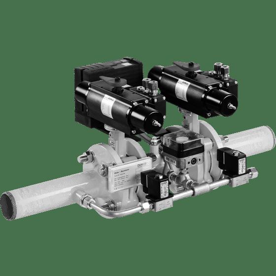 HF Bloc: Комбінація подвійних клапанів з одноступінчатого відкидного клапана, пневмопривід, / 5 bar - Фото №1