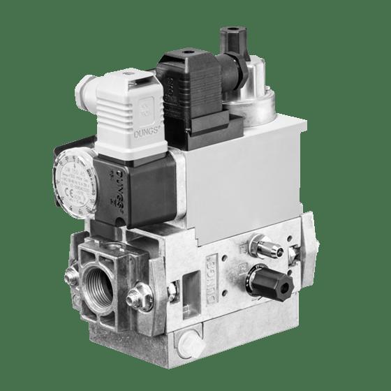 MB-D (LE) 407-412 B07: GasMultiBloc® (газовий мультиблок), модуль регулювання і безпеки, одноступінчатий режим експлуатації, вбудований байпасний клапан