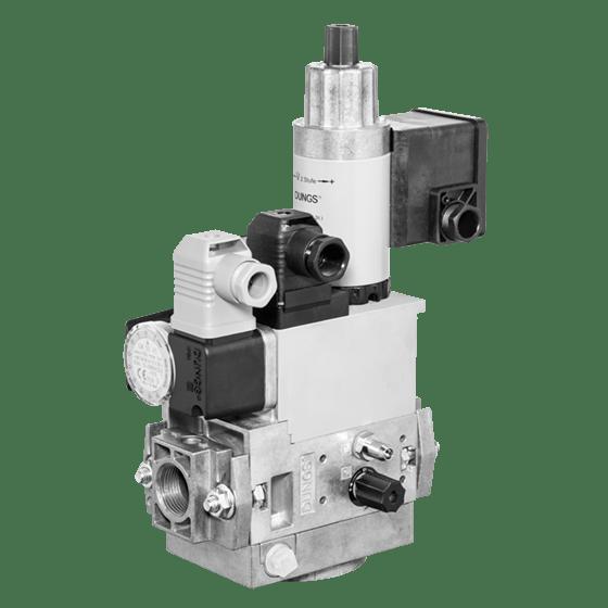 MB-ZRD (LE) 405-412 B07: GasMultiBloc® (газовий мультиблок), модуль регулювання і безпеки, двоступеневий режим експлуатації, вбудований байпасний клапан